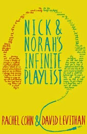 Cover art from the book of Nick and Norah's Infinite Playlist