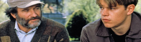 Robin Williams and Matt Damon in Good Will Hunting