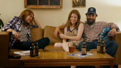 Olivia Wilde, Anna Kendrick and Jake Johnson in Drinking Buddies