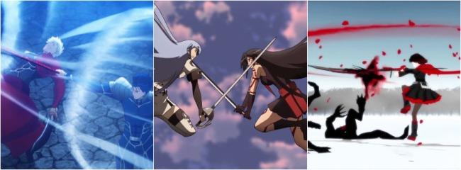 APR 40 - Fighting Anime - Fate Stay Night, Akame Ga Kill, RWBY fight scenes